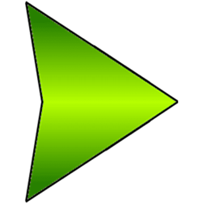 Green triangle play button - Roblox